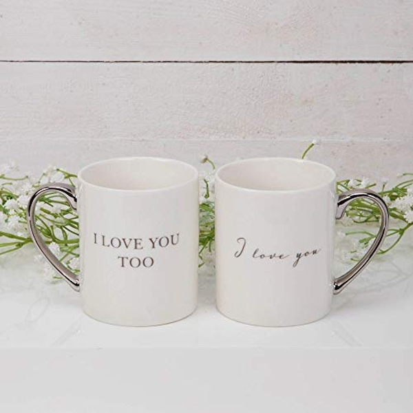 AMORE BY JULIANA? Mug Gift Set Pair - I Love You...Too
