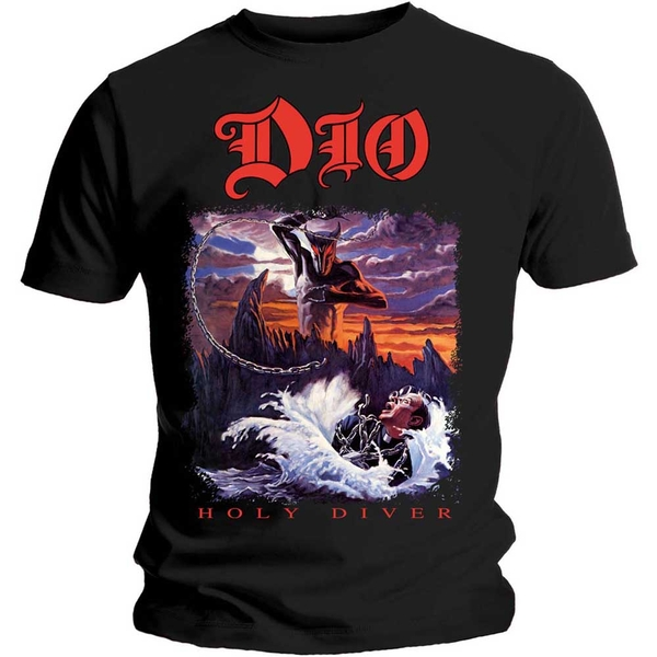 Dio - Holy Diver Unisex Small T-Shirt - Black