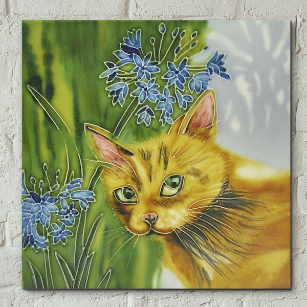 Ivy In Agapanthus Wall Tile By Judith
