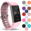 YouSave Fitbit Charge 3 Silicone Strap - Large - Blush Pink