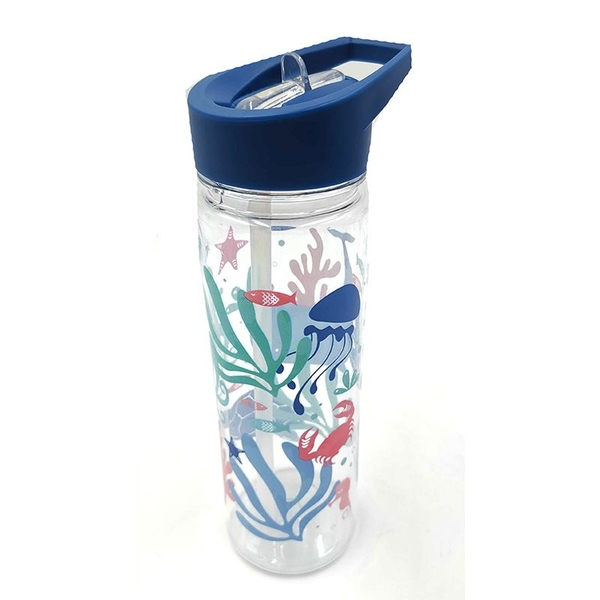 Reusable 550ml Plastic Water Bottle - Eco Sealife Design