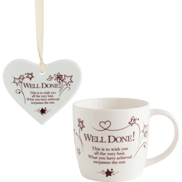 Said with Sentiment Ceramic Mug & Heart Gift Sets Well Done