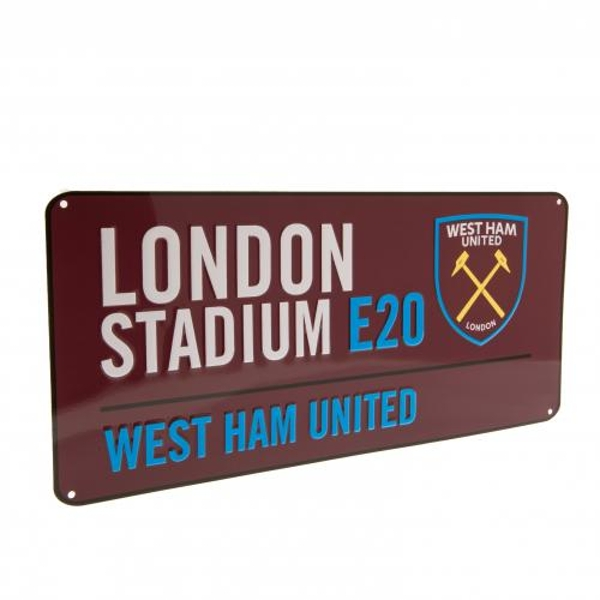 West Ham United FC Burgundy Street Sign