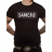 Sons Of Anarchy - Samcro Banner Unisex T-shirt Black X-Large