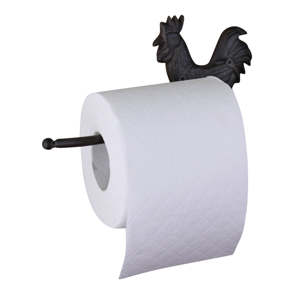 Cast Iron Rustic Toilet Roll Holder, Chicken