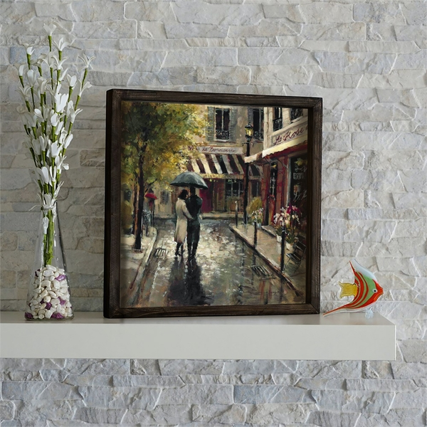 KZM535 Multicolor Decorative Framed MDF Painting