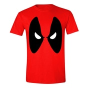 Marvel Deadpool Angry Eyes Men's X-Large T-Shirt - Red