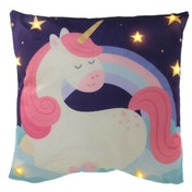 Enchanted Rainbows Unicorn Decorative LED Cushion