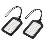 Hama Luggage Bag Suitcase Baggage Tag - Set of 2, Black
