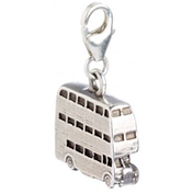Sterling Silver Knight Bus Clip on Charm