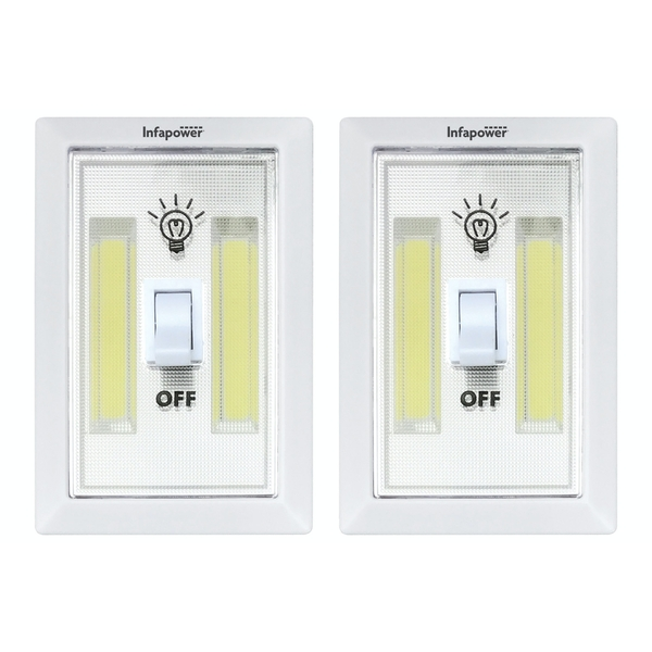 Infapower 3 Watt COB Switch Light Value Pack inc 6x AAA Batteries