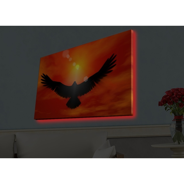4570HDACT-048 Multicolor Decorative Led Lighted Canvas Painting