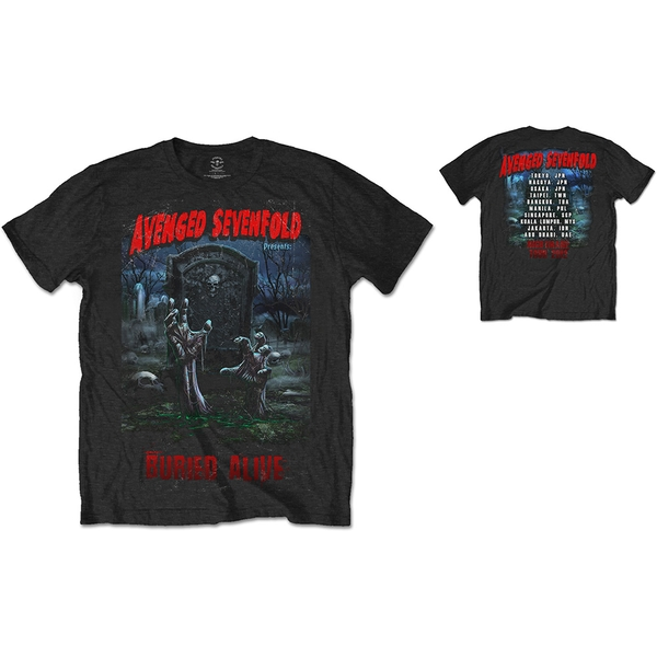 Avenged Sevenfold - Buried Alive Tour 2012 Unisex Small T-Shirt - Black