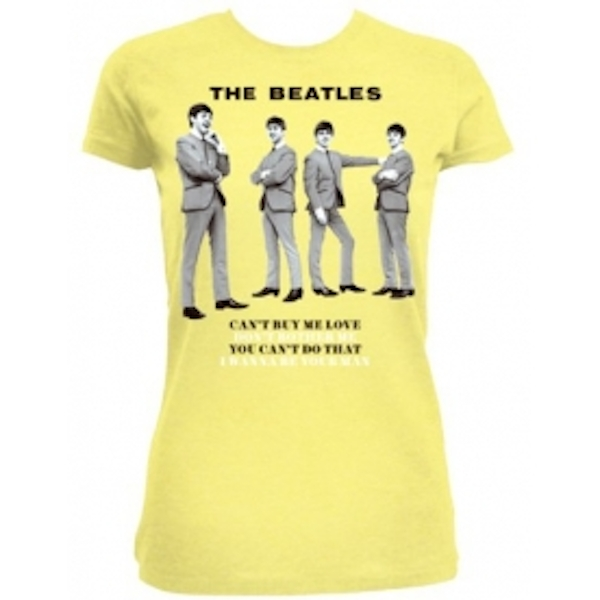 The Beatles You Cant Do That Yellow Ladies TS: Large