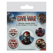 Marvel - Captain America Civil War Badge Pack - Iron Man