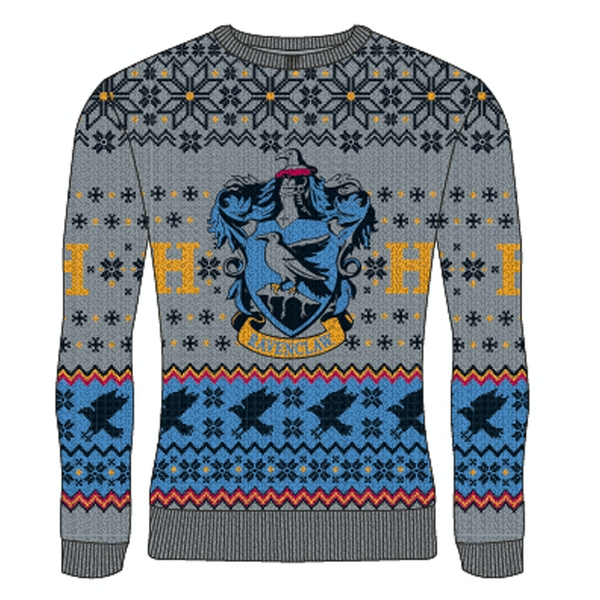 Harry Potter - Ravenclaw Unisex XX-Large Knitted Jumper - Multi-Colour