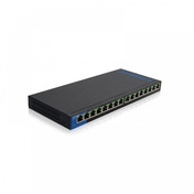Business Unmanaged Switch PoE 16-port (16 ports POE/ 125w) UK Plug