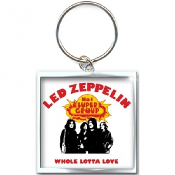 Led Zeppelin Whole Lotta Love Metal Keychain