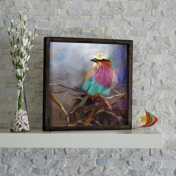 KZM203 Multicolor Decorative Framed MDF Painting