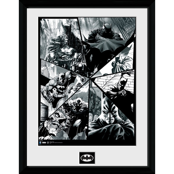 Batman Comic Collage Framed Collector Print