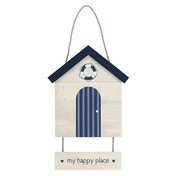 My Happy Place Beach Hut Wall Hanging