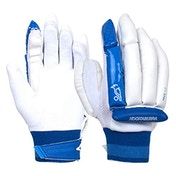 KOOKABURRA Unisex-Youth 2023 PACE 5.2 Batting Glove, White/Blue, Slim Fit Right Hand