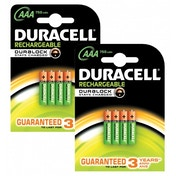 Duracell 750mAh AAA Size Rechargeable Batteries Pack of 8