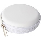 Groov-e Zip-Up EVA Earphones, Memory Cards & Cables Carry Case (White)