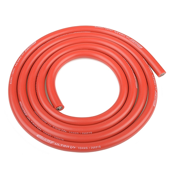 Corally Ultra V+ Silicone Wire Super Flexible Red 10Awg 2683/0.05 Strands Od 5.5Mm 1M