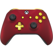 Xbox One S Controller - Red Velvet & Gold Edition