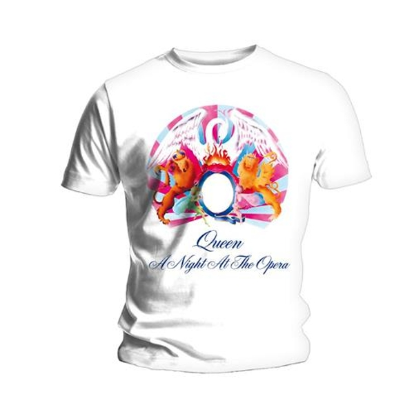 Queen - A Night At The Opera Unisex Large T-Shirt - White