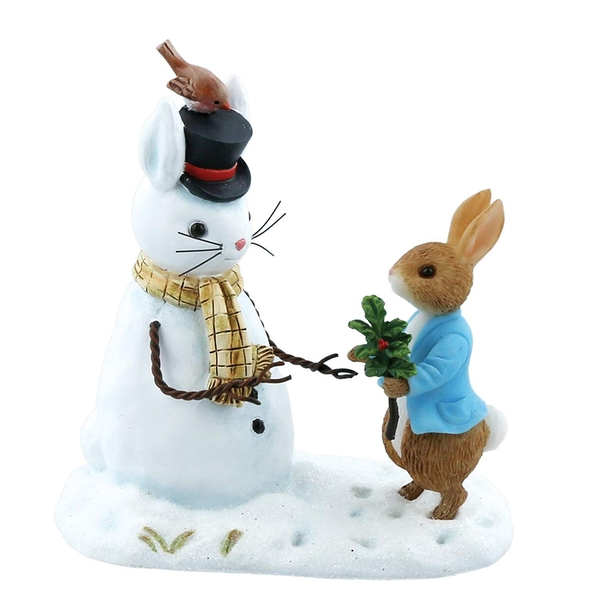 Peter Rabbit and Snow Rabbit Figurine