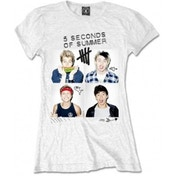 5 Seconds Of Summer Scribbles White Skinny: X Large