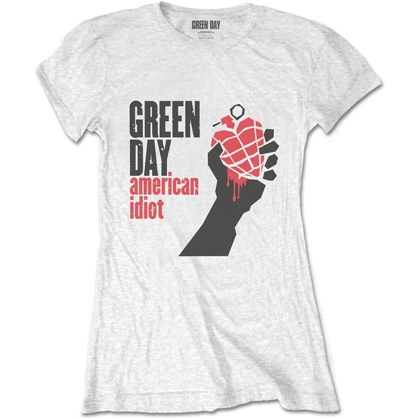 Green Day - American Idiot Women's Small T-Shirt - White
