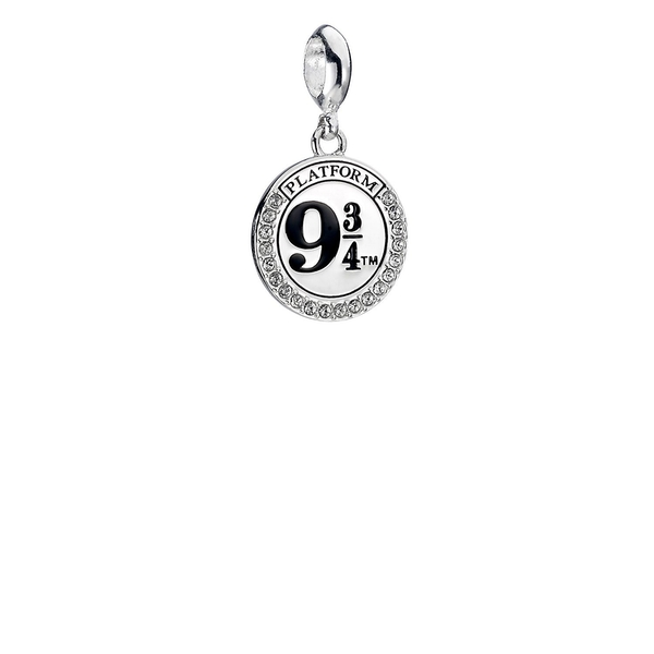 Sterling Silver Platform 9 3/4 Slider Charm with Swarovski Crystal Elements