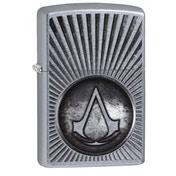 Zippo Assassin's Creed Crest Street Chrome Finish Windproof Lighter
