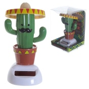Cactus Wearing Sombrero Solar Powered Pal