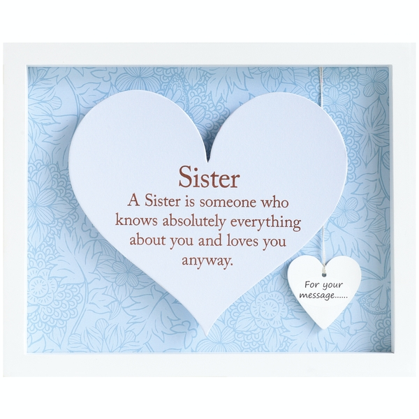 Said with Sentiment Rectangular Heart Frames Sister