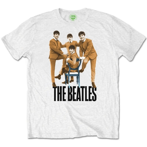 The Beatles Chair Men's X-Large T-Shirt - White