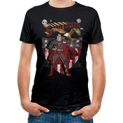 Superman - Shield And Eagle Men's Medium T-Shirt - Black