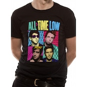 All Time Low - Pop Art Unisex Medium T-Shirt - Black