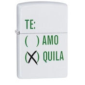 Zippo Tequila Design White Matte Finish Windproof Lighter