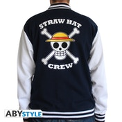 One Piece - Skull Men's XX-Large Hoodie - Navy/White