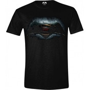 DC Comics Batman vs Superman Dawn of Justice Logo Small T-Shirt - Black