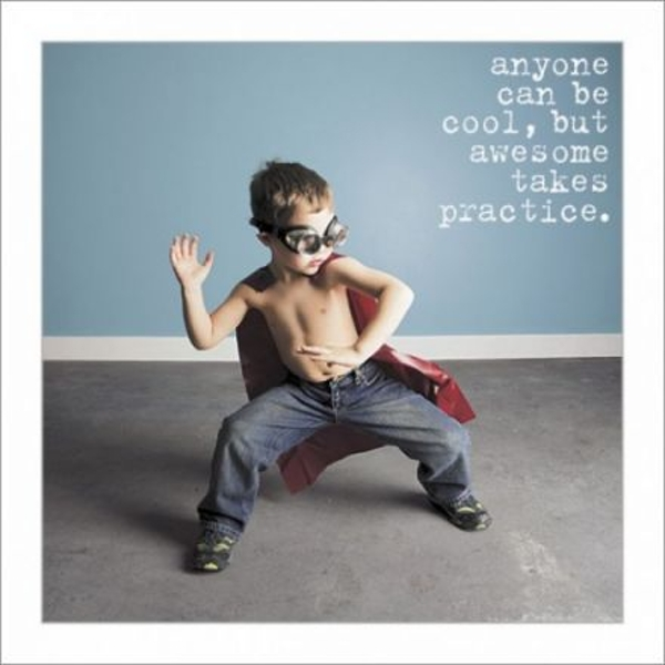 Anyone Can Be Cool Greeting Card
