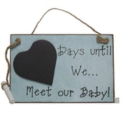 Days Until We Meet Our Baby Chalkboard By Heaven Sends