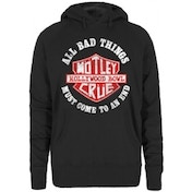 Motley Crue Bad Boys Shield Ladies Hoodie size: Small