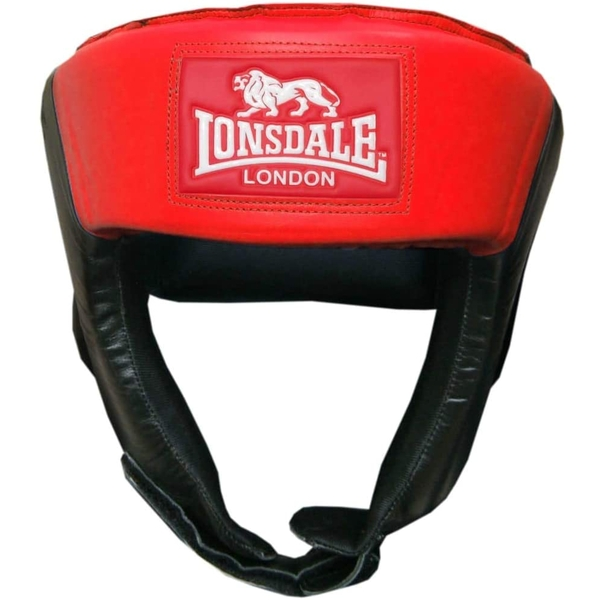 Boxing Sparring Pro Open Face Headgear Size Medium (Red/Black)