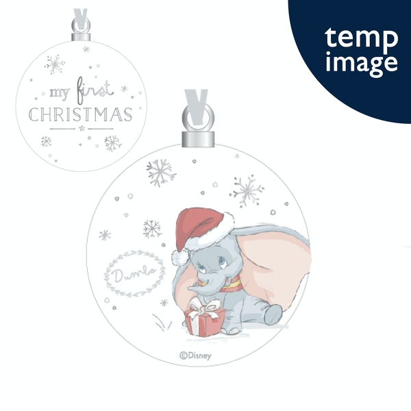 Dumbo Ceramic Bauble - First Christmas
