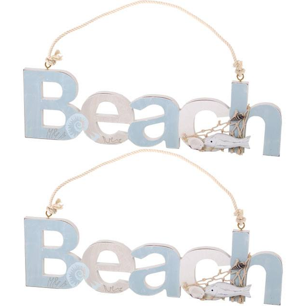 Box of 2 Beach Hanging Signs